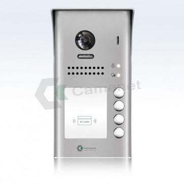 videocitofono 2 fili 4 appartamenti