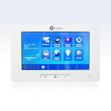 monitor videocitofono 2 fili 7 pollici touch screen
