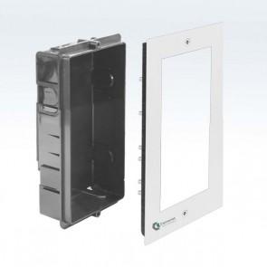 Contenitore incasso 2x1 videocitofono modulare