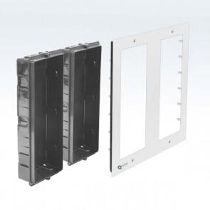 Contenitore 6 posti pulsantiera videocitofono modulare 3x2