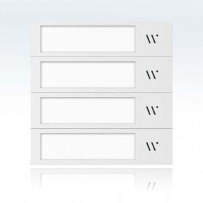 Modulo 4 tasti per pulsantiera modulare videocitofono 2 fili