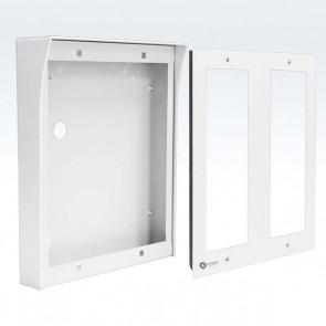 contenitore 6 posti per pulsantiera videocitofono modulare
