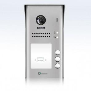 videocitofono 2 fili pulsantiera 3 famiglie